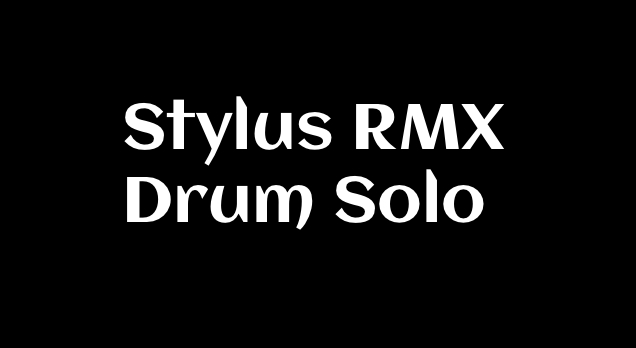 Improv Drum Solo Using Stylus RMX